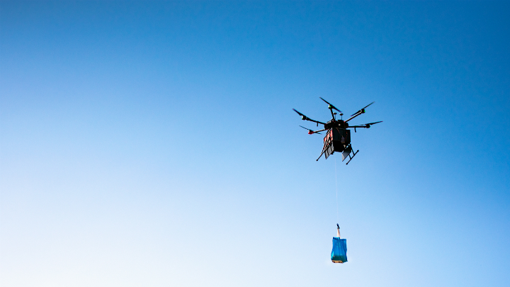 drone bvlos flights in kansas food deliveries in holly
