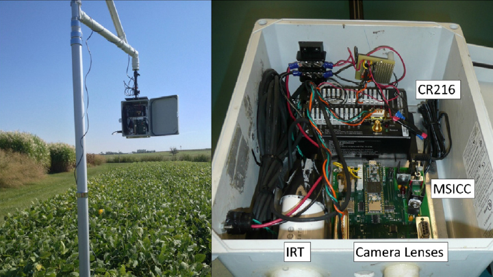 thermal imaging and rgb combined camera for crop irrigation