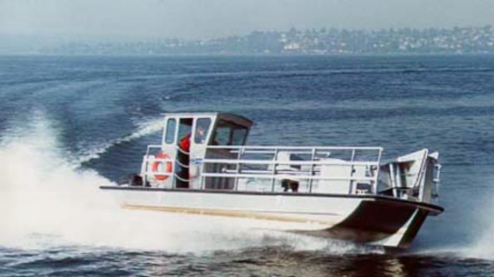 A Marine Spill Response Corp. MARCO skimming vessel.